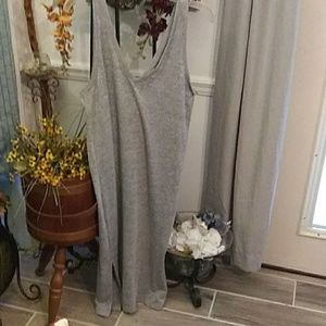 Gap L grey dress. Long